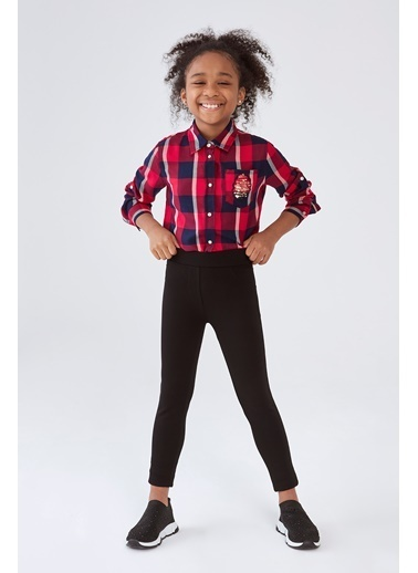 Guess Kız Çocuk Siyah Pantolon Siyah